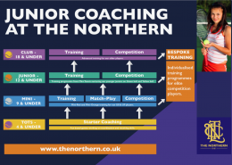 Junior coaching at the northern