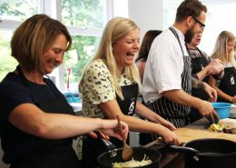 Cooking together Laughing Food Sorcery Didsbury